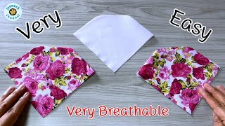 Very Easy Face Mask Sewing Tutorial DIY Breathable Face Mask Sewing Tutorial Máscara 3D