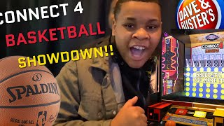 DAVE & BUSTERS CONNECT 4 BASKETBALL SHOWDOWN!!!!! #viral #family