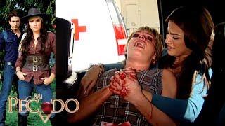 Mi Pecado - Capítulo 108: ¡Renata pierde la vida en el rescate de Lucrecia! | Televisa