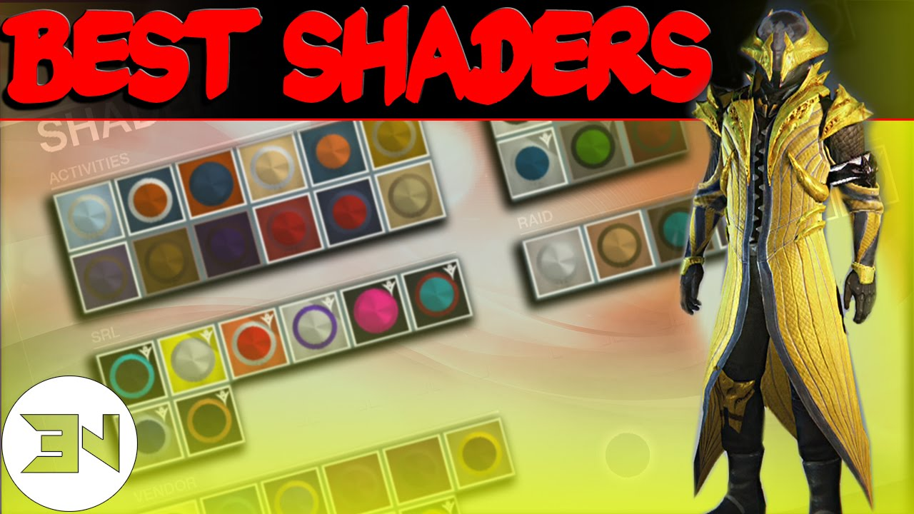 The quot best shaders in destiny quot top 5 best shaders my favorites