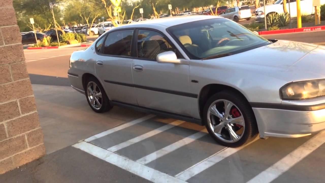 Impala 2003 chevy impala reviews : 2003 Chevy Impala Silver w/ Chrome Wheels - Startup - YouTube