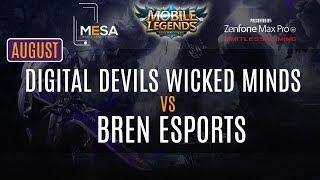 MeSA Mobile Legends August: DigitalDevils Wicked Minds Vs Bren Esports Finals