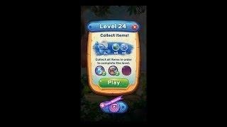 Smurfs Bubble Story Level 24 HD 1080p