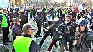 Gilets jaunes : tensions et heurts à Paris (Maillot, Ch.Elysée et la Concorde) - 17 novembre 2018