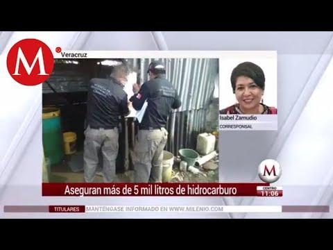 Aseguran más de 5 mil litros de hidrocarburo en Veracruz
