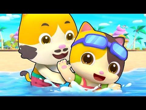 Ngày đi biển của mèo con | Beach song | Nhạc thiếu nhi vui nhộn | BabyBus