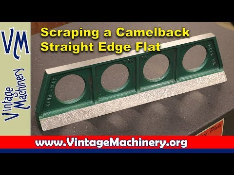 Scraping a Camelback Straight Edge Flat