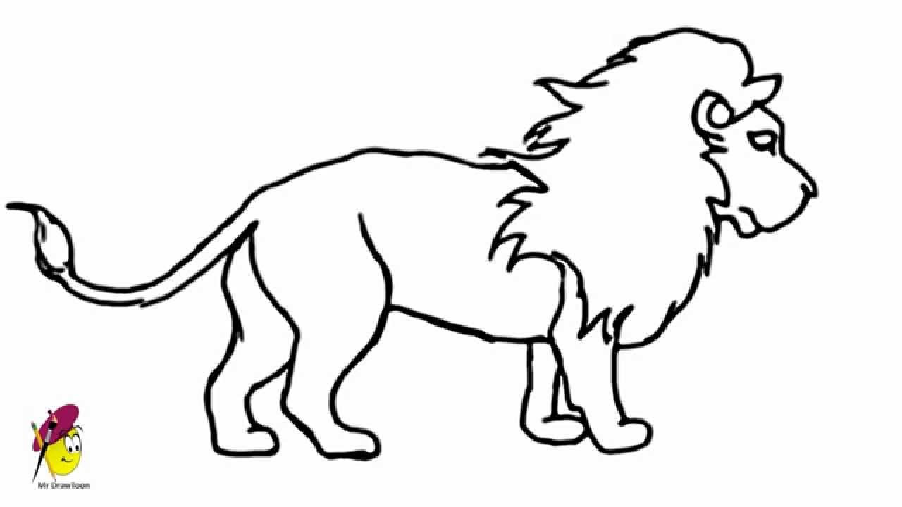 Lion How To Draw A Lion Easy Step By Step Youtube