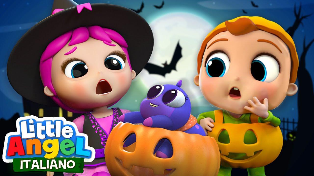 Dolcetto o SCHERZETTO di Halloween ??? Cartoni Animati & Canzoni Bambini | Little Angel Italiano