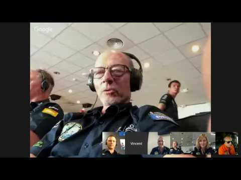 Live conversation between André Borschberg and the Mission Control Center in Monaco (MCC)