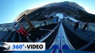 360°-Video: Sprung von der Olympiaschanze in Garmisch-Partenkirchen   Sportschau