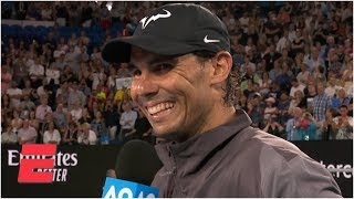 Rafael Nadal happy with improved serve, renewed passion in win vs. Matthew Ebden | Australian Open