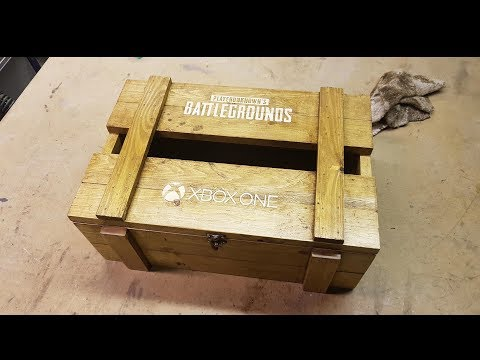 PUBG XBOX ONE Wooden Loot Crate Build, DIY
