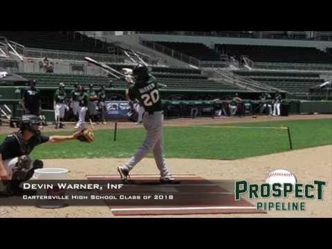 Devin Warner, Inf, Cartersville High School, Swing Mechanics at 200 FPS