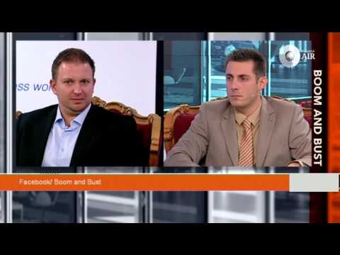 Vladimir Ribakov giving interview to Boom & Bust   Bulgarian economic and financial TV show