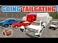 FARMING SIMULATOR 2017 | TAILGATING WITH THE CAMPERS, GOLF CART & TRUCKS | FOOTBALL SPECIAL