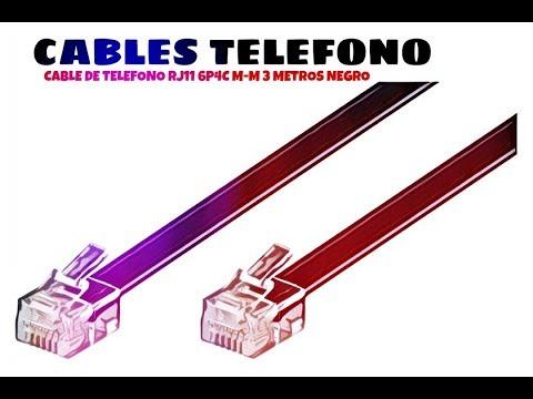 Video de Cable de telefono RJ11 6P4C M-M 3 M Negro