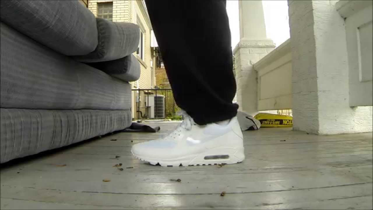 nike air max 90 hyperfuse all white