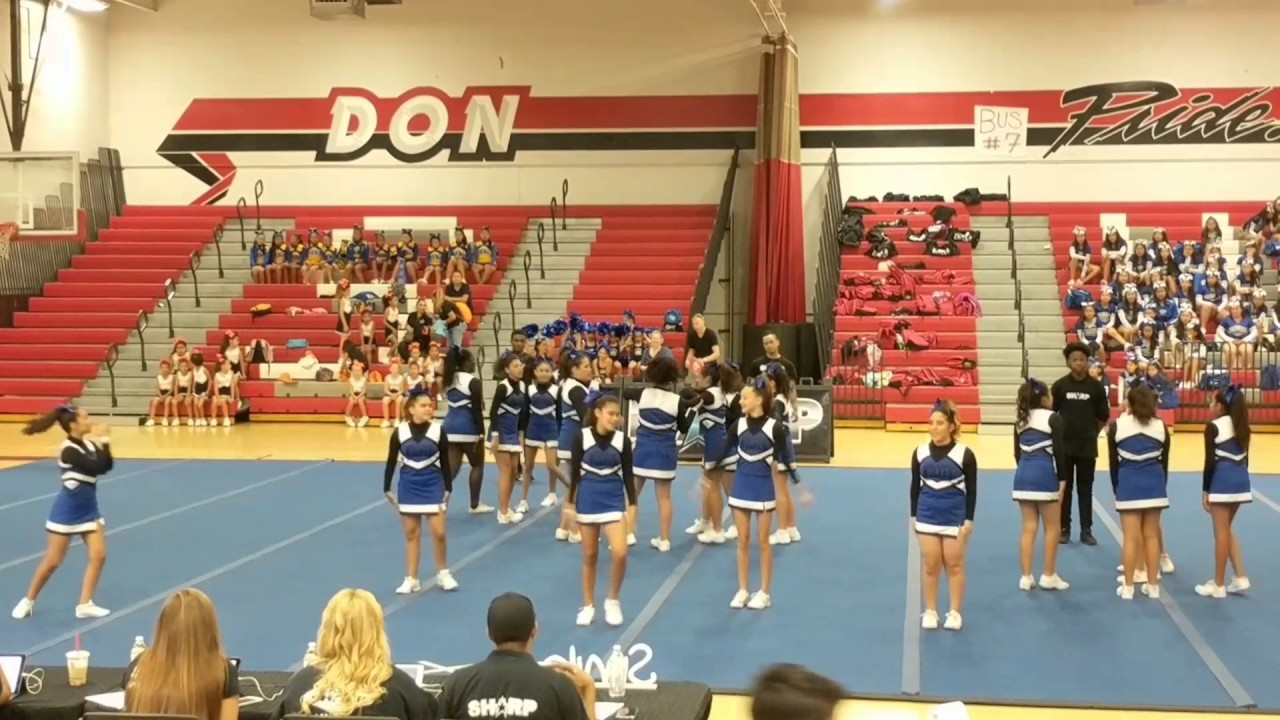 University Heights Middle School Cheer Squad S H A R P