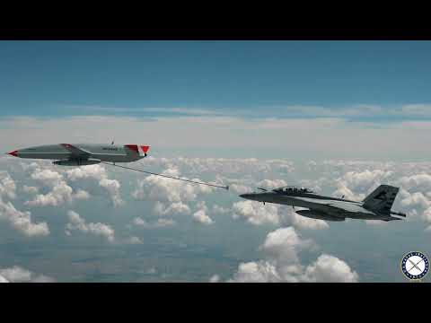 Unmanned MQ-25A Tanker Refuels Super Hornet for the First Time