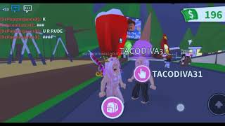 Give my pet and my toy to ppl at adopt me(roblox)