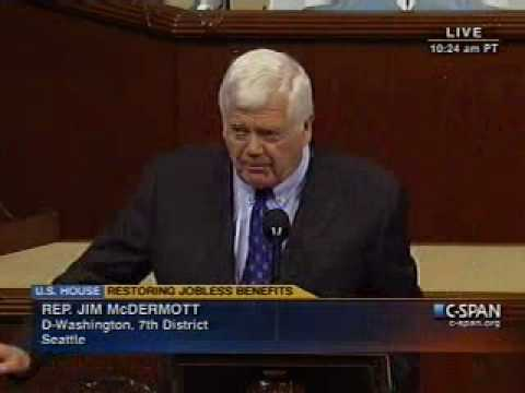 Rep. Jim McDermott Speaks For UI Extension