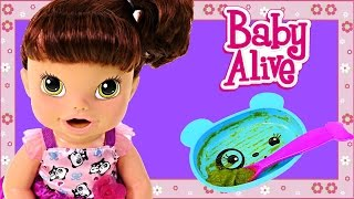Baby Alive My Baby All Gone Speaks Spanish & English! Eating Drinking Potty Time Baby Doll
