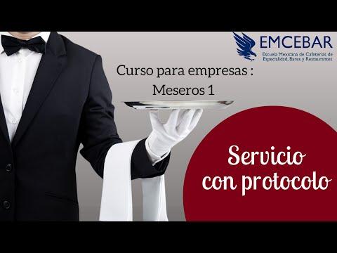Capacitacion de Meseros 1 | CDMX - Puebla - Monterrey