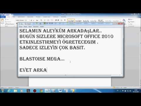 Microsof Office 2010 veya 2013 Etkinleştirme %100 ÇALIŞIYOR DENENDİ