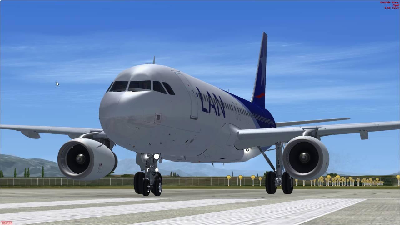 [FSX] Flight Sim Labs A320-X Take off from Santiago