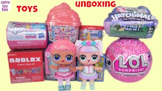 Unboxing Toy Surprises Minecraft LOL PETS EYE Spy My Little Pony Roblox Doorables