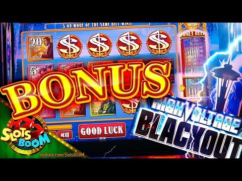 River Royale & High Voltage Blackout BONUSES !!! iT & Everi Gaming Slots in San Manuel Casino