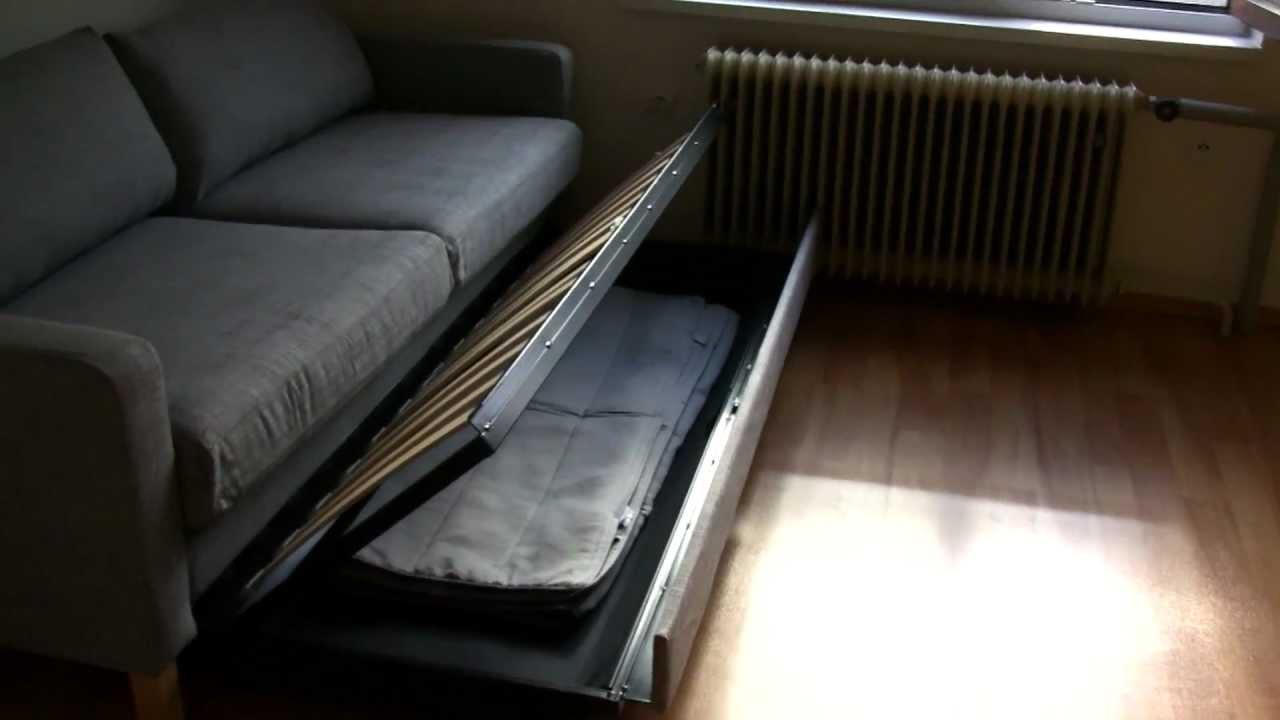 Ikea karlstad 3m stn rozkl pohovka l d l youtube for Divan 3 4 bed