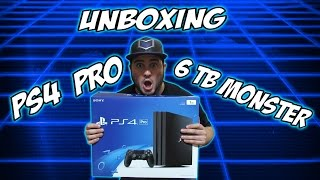 ps4 pro unboxing how to turn it into a 6 tb monster