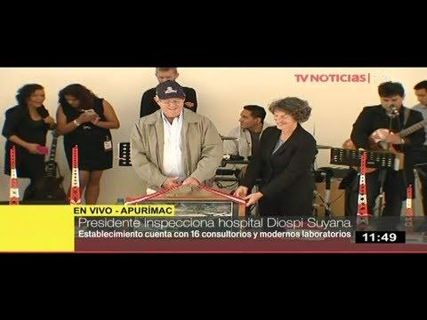 Presidente Kuczynski inspecciona hospital Diospi Suyana en Apurímac