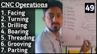 How Many Types Operations in CNC TURNING MACHINE and कौन कौन से Operation कर सकते हैं CNC MACHINE