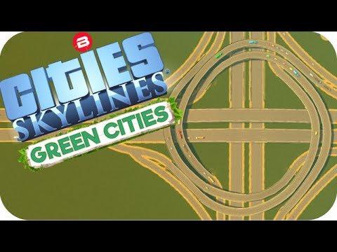 Cities: Skylines Green Cities ▶TURBINE INTERCHANGES◀ Cities Skylines Green City DLC Part 25