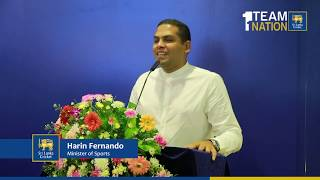 Minister of Sports Harin Fernando