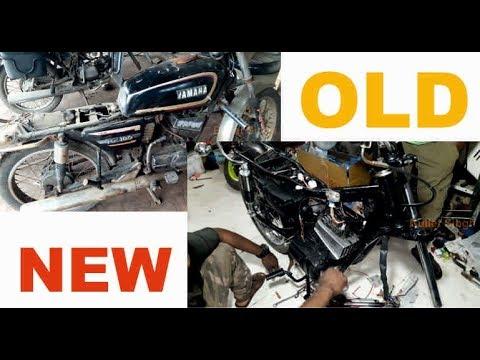 Yamaha RX 100 restoration - old to new look - bullet singh boisar