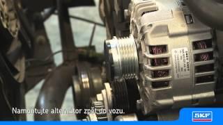 SKF - Montáž volnoběžné řemenice alternátoru na VW Passat 1.9 TDI - oprava prováděná na ponku