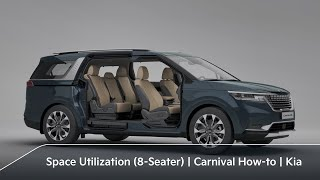 Efficient Seating/Space Utilization (8-Seater)|Carnival How-to|Kia
