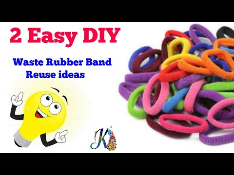 2 Easy and super cute ideas   Best use of waste  Rubber Band   #DIY art and crafts   #DIY home decor