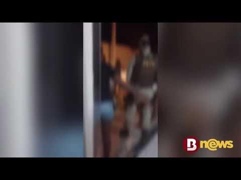 Vídeo: Moradores são detidos por PM após aglomeração