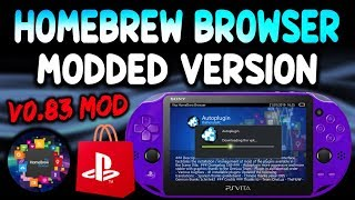 PS Vita Homebrew Browser v0.83 Mod!