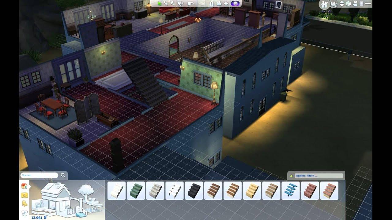 die sims 4 077 nur 3 stockwerke m glich oder dachboden ohne w nde youtube. Black Bedroom Furniture Sets. Home Design Ideas