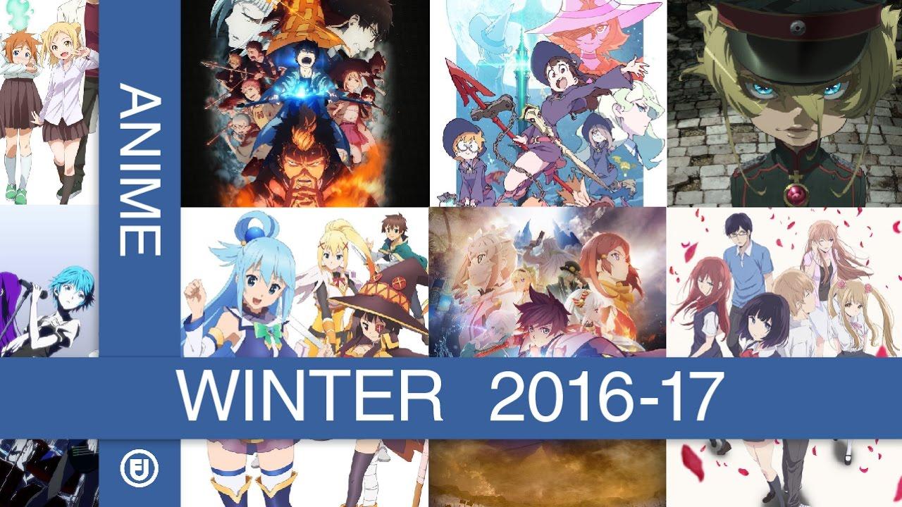 My Ranked Anime List Winter 2016 17