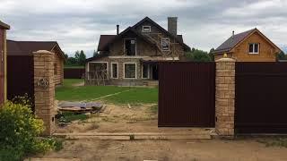 видео Откатные ворота Воскресенск под ключ- Заказать автоматические раздвижные ворота в Воскресенске