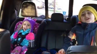 Kids sing The Potty Song in the car