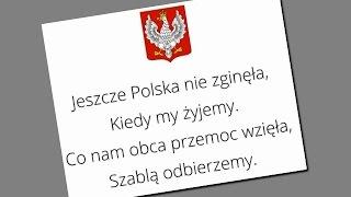 Mazurek Dąbrowskiego Polski hymn państwowy cztery zwrotki + tekst KIEDY MY ŻYJEMY wykonanie żeńskie
