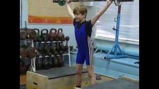Тяжёлая атлетика Ксенафонтов Матвей, 11 лет,св 28 Рывок 16 кг
